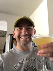 Brian Parker cheers